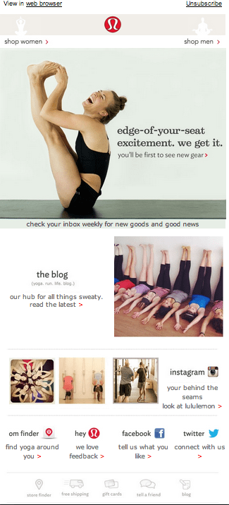 lululemon-welcome-email-example