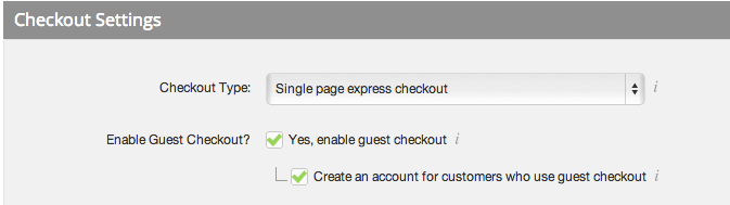 Bigcommerce guest checkout settings