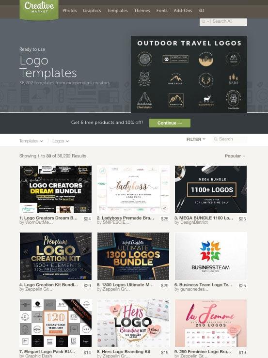 Creative Market Logo Templates