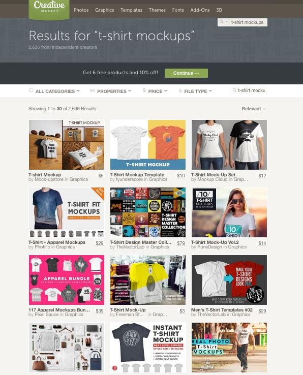 Creative Market T-Shirt Mockups