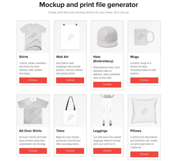 Printful Mockup Generator