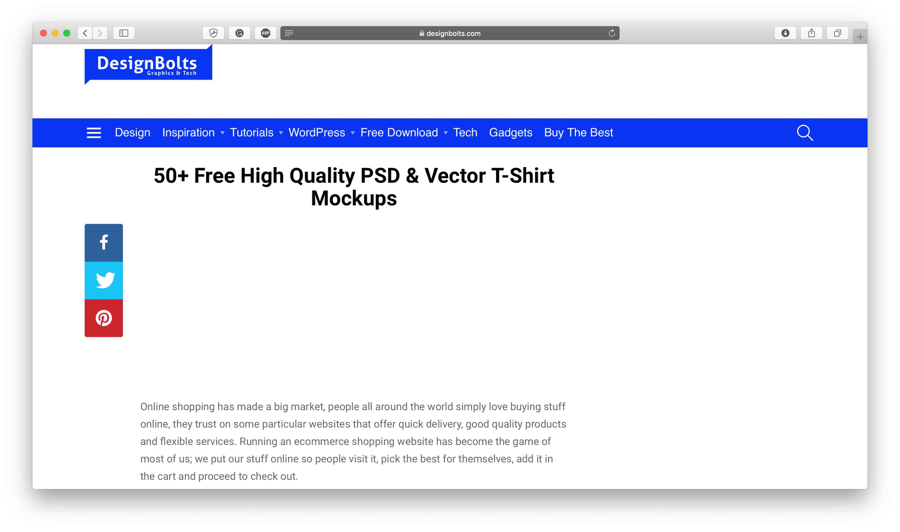 DesignBolts T-Shirt Mockup Generator