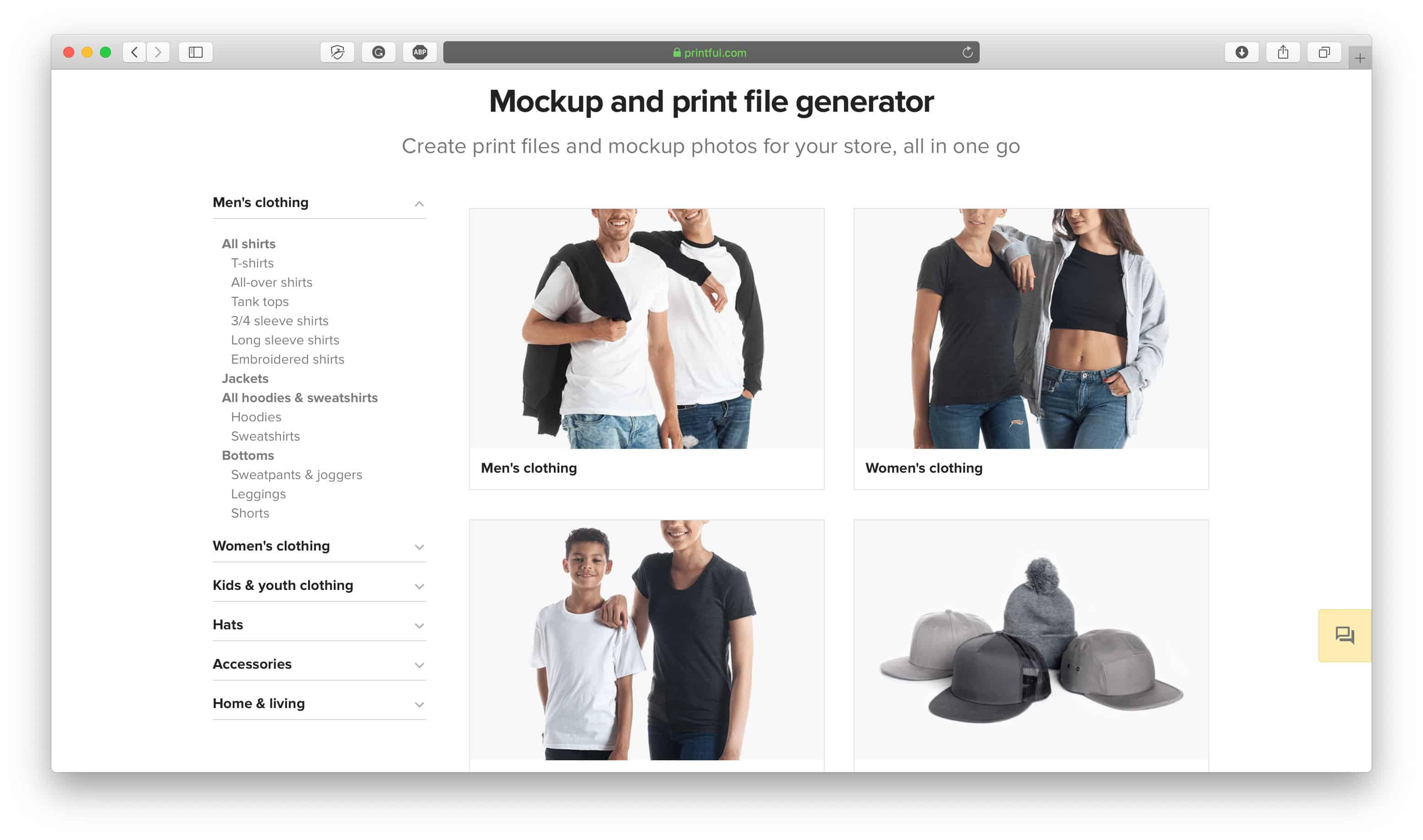 Printful T-Shirt Mockup Generator