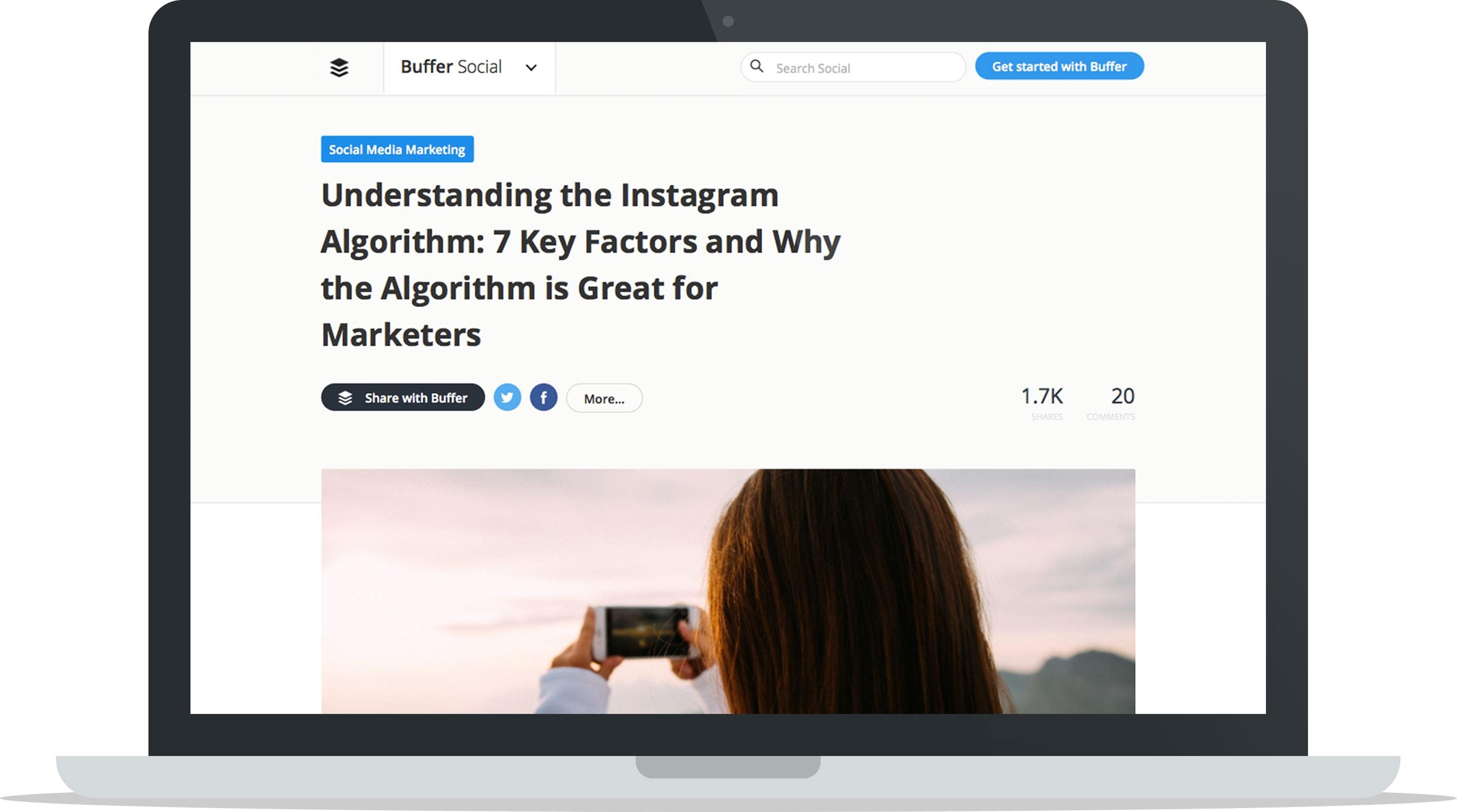 Buffer Social Media Instagram Followers Tool