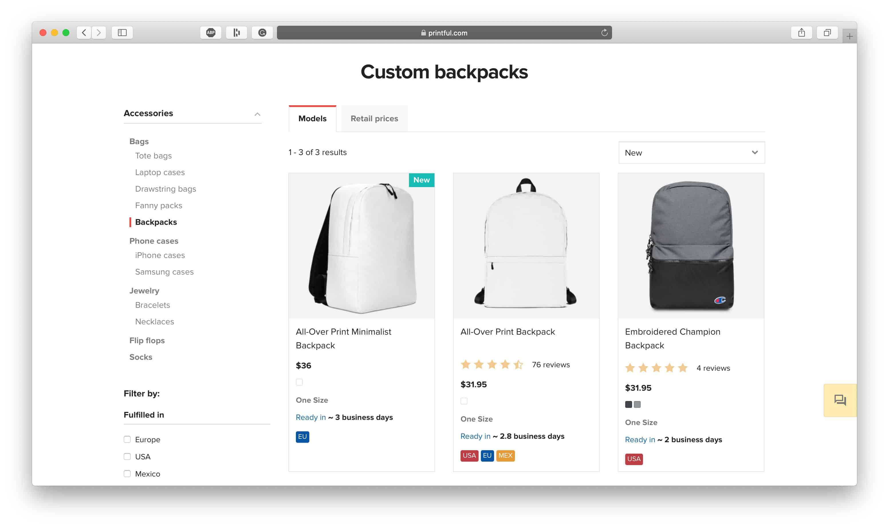 Backpack Dropshipping Products