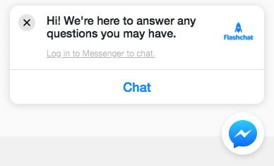 Facebook Messenger Marketing Chat Example