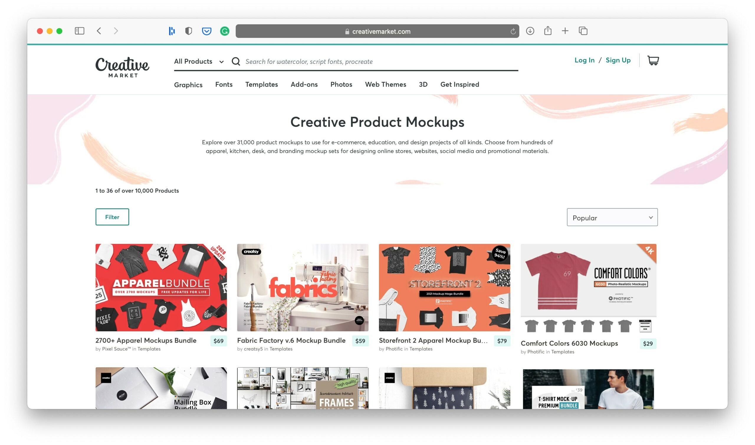 Creative Market Product Mock