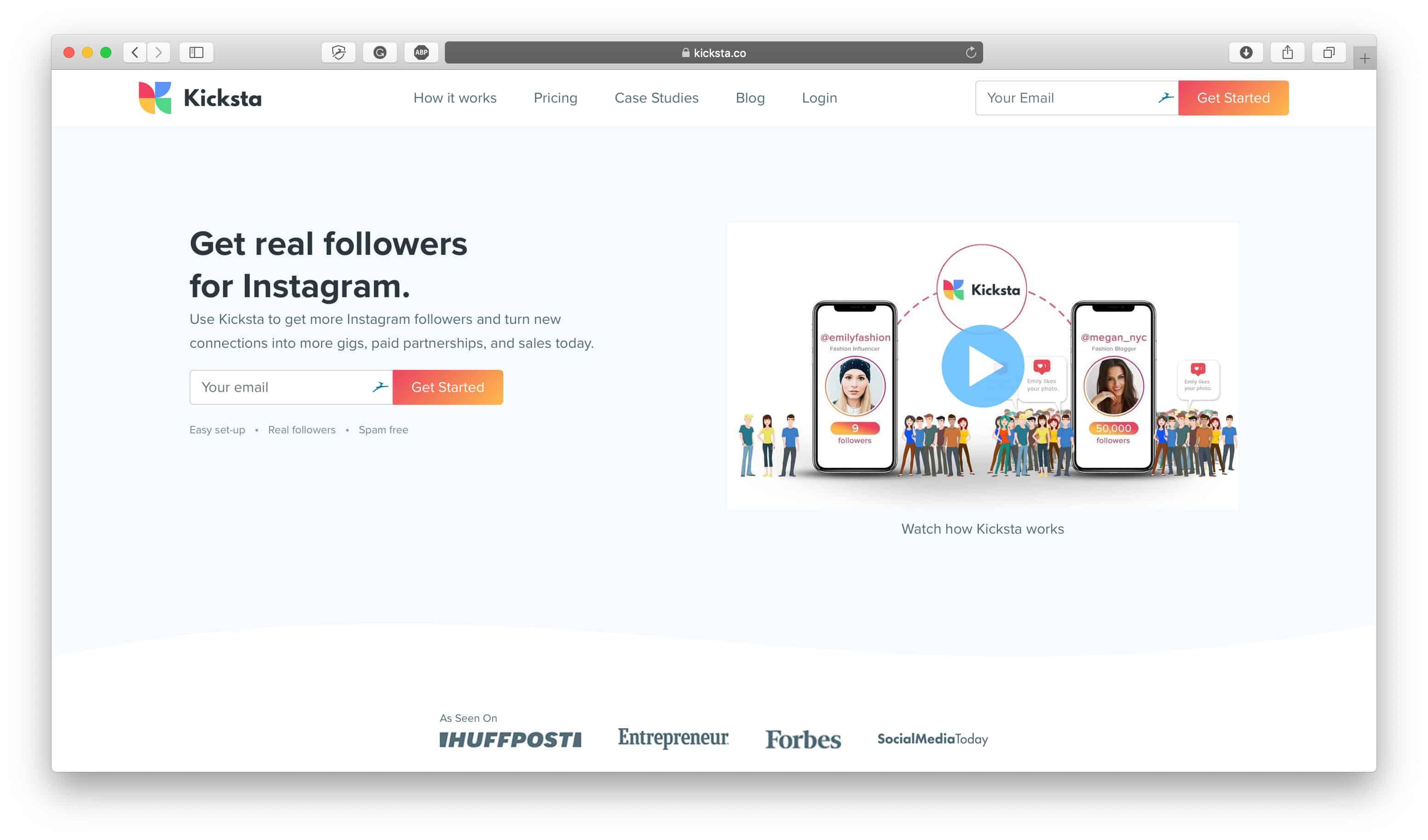 Kicksta Instagram Growth Service